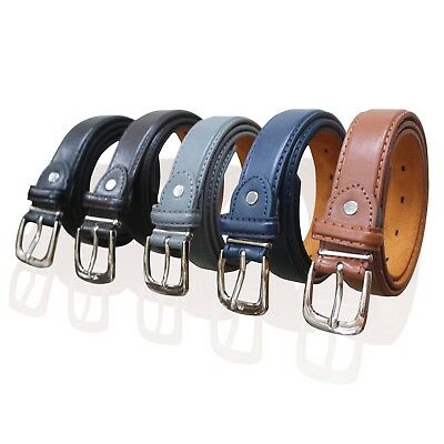 "Childrens Leather Belts 1"" Wide Belt Kids Belt Boys Belts 6 Colours Mb74"