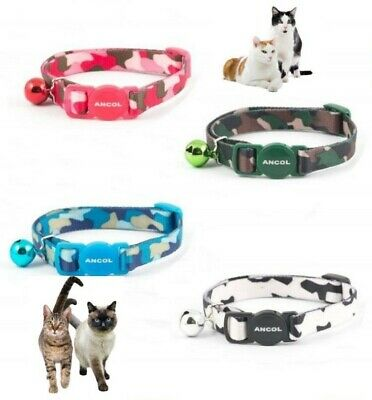 Cat Collar ANCOL Camo Camouflage Quick Release Cat Collar with Bell