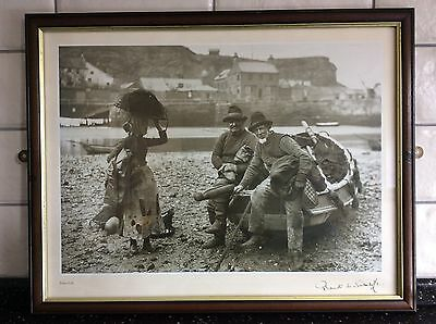 VINTAGE/ANTIQUE FRANK MEADOW SUTCLIFFE FRAMED PRINT PHOTOGRAPH 48 x 38 cms
