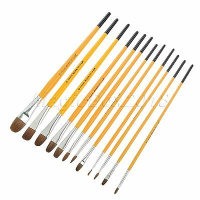 12 Sizes 1Pc Round Brush For Painting Gouache Watercolor Art Tools Supplies