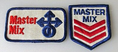 (2) Vintage MASTER MIX FEEDS SEEDS Seed Farm Agriculture Logo Patches