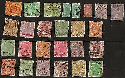 Victoria 26 Different Used Queen Victoria Stamps