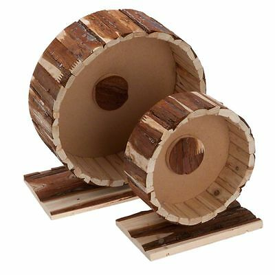 Wooden Exercise Running Wheel for Hamsters Gerbils Mice Rats 100% Treated Wood