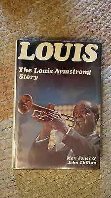 Louis - the Louis Armstrong Story-by Jones & Chilton-1st Edition w/ Dust Jacket