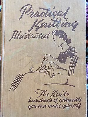 Vintage Practical Knitting Illustrated Book, From 1940's, Vintage Patterns