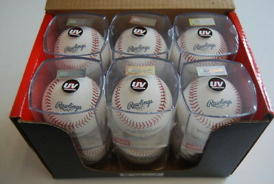 Dozen Rawlings ROMLBOD16 Opening Day Major League Official ROMLB Baseball w/Cube