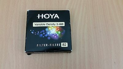 Hoya 82mm Variable Neutral Density Filter ND3-ND400 For Canon Nikon Sony etc.