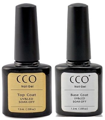 CCO UV LED Nail Gel Professional Top and Base Coat for Any Brand Colours UK