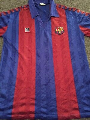 Men's Retro Barcelona 1987 Football Memorabilia Shirt Size XG