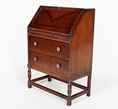 Antique Vintage Oak Bureau Writing Desk Chest