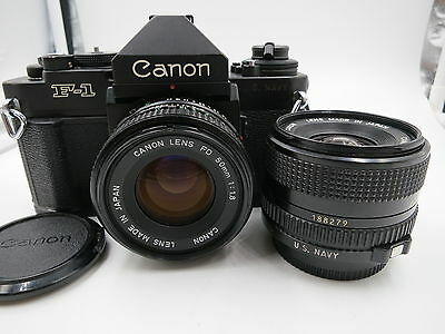 Canon F1 n, 50mm & 35mm, rare US Navy version