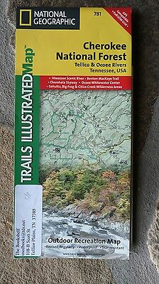 National Geographic 781 Cherokee National Forest Tellico & Ocoee Tennessee U.S.A