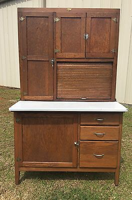"Rare Antique Oak ""Home Comfort"" Hoosier Cabinet Complete W/ Sifter"