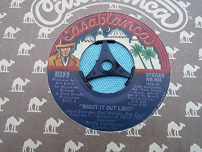 "Kiss - Shout It Out Loud. 1976 Usa Vinyl 7"" In Company Sleeve. Nb854"