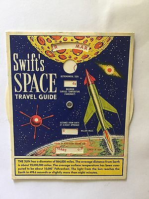 Vintage Swift's Advertising Space Travel Guide Toy Premium