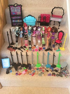 Monster High Toy Figure Bundle Accessories Chairs Wardrobe Clothes Job Lot