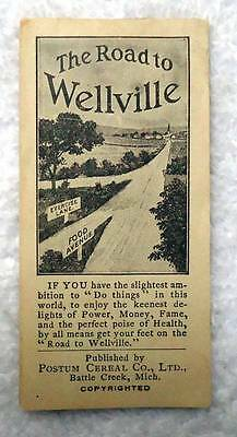 Vintage Postum Cereal Co The Road To Wellville Book Booklet #d55
