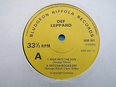 "Def Leppard - Ride Into The Sun . 1979 3 Track Uk Vinyl 7"" Ep.   Msb001"