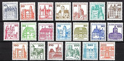 Germany - 1977-90 - Castles - A Full Set - Mint Never Hinged