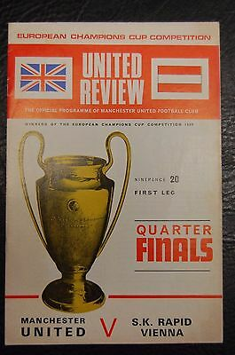 Manchester United V  Sk Rapid Vienna European Cup  1968/69  George Best Played