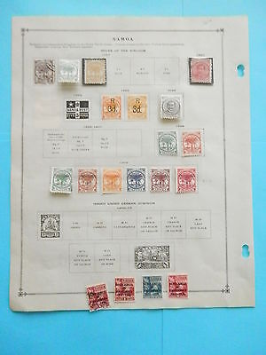 Samoa Small Excellent Old Collection 1914-1940 On Page Dr Schultz Estate !!9152S