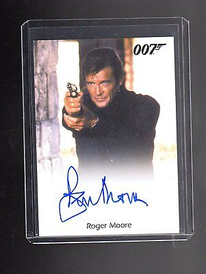 James Bond Archives Final Edition Roger Moore Autographed card