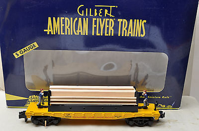 American Flyer Lionel 6-49011 UP Union Pacific Moe & Joe Operating Lumber Car