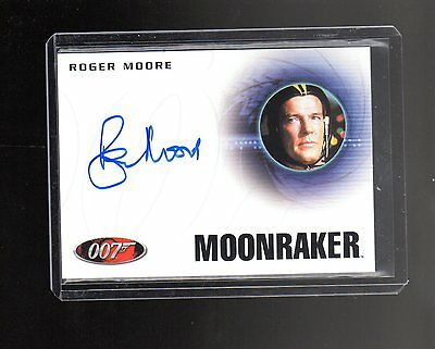 James Bond Archives Final Edition  A223 Roger Moore  Autographed card