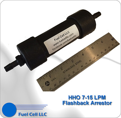 HHO and H2 Flashback Arrestor 7-15 LPM - Will Never Fail!