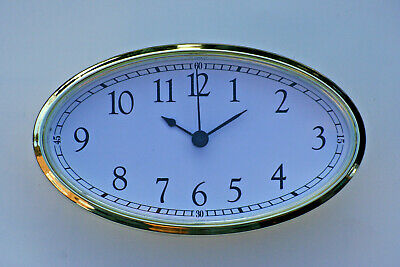 Large Oval Clock Suitable for Caravans, Motorhomes & Boats White Arabic,