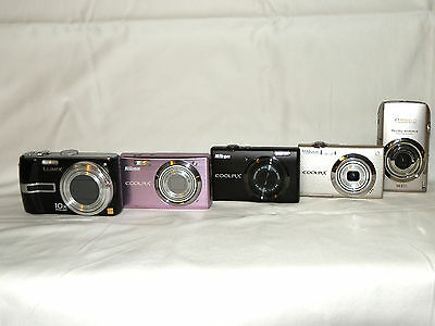 Busted!!!  A lot of 5 dysfunctional compact cameras - Canon, Nikon & Lumix