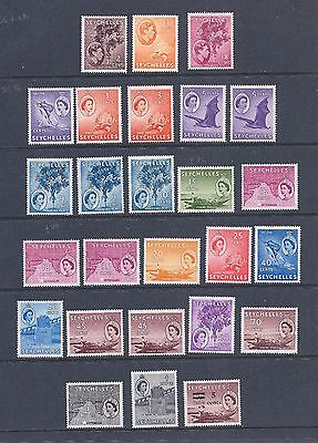 Seychelles: Kg6/qe2 Most Light Hinged Mint On Stockcard. -