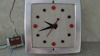 WORKING! NuTone 1950's George Nelson Eames era  Art Deco door chime Clock.