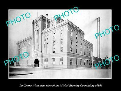 OLD LARGE HISTORIC PHOTO OF LA CROSSE WISCONSIN, THE MICHEL BREWERY Co c1900