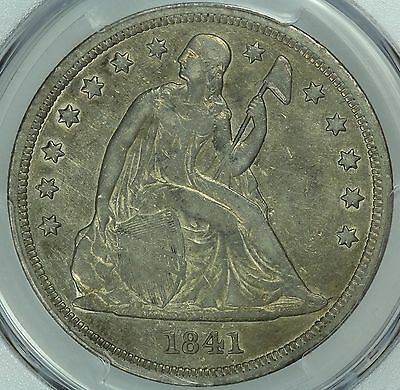 1841 Seated Liberty Dollar! Pcgs Vf30! $1! Us Coin Lot #3801