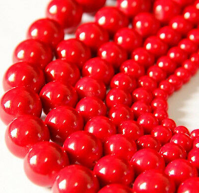 Wholesale Charm Round Red Coral Like Bead Loose Spacer Bead DIY Jewelry Makings