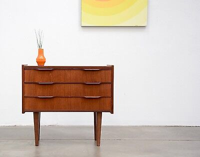 1960s Danish Modern TEAK Compact Chest Drawers Entry Dresser Table Mid Century