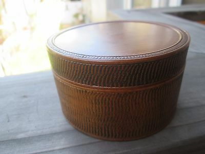 Japanese Wood Round Case Box Container Tea