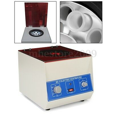 Electric Lab Centrifuge Laboratory Medical Practice Timer 4000rpm 12 x 20ml New