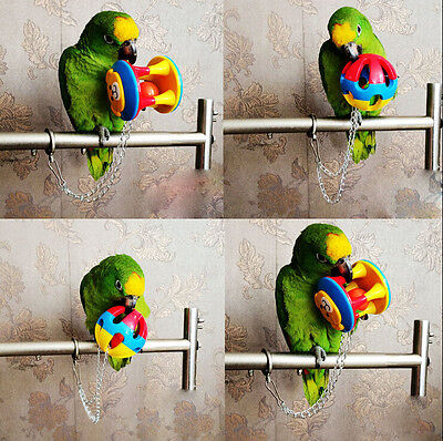 New Parrot Chew Ball Colorful  Pet Bird Bites Toy Cage Hanging For Parakeet