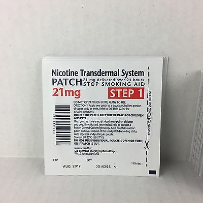 41 Nicotine Transdermal System Patch Stop Smoking Aid 21mg Step 1