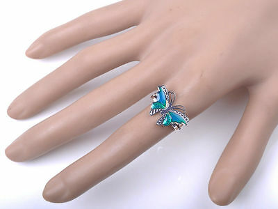 butterfly mood ring adjustable rings x2