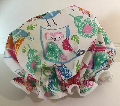 SHOWER CAP - Ladies Girls Owl Print One Size Free Postage
