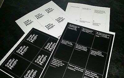Cards Against Muggles printed - ready to cut & play