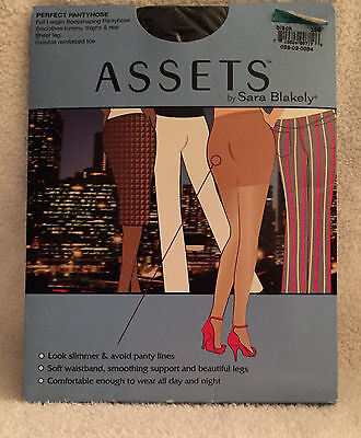 ASSETS PERFECT PANTYHOSE by Sara Blakely   Size 3   Black   Full Bodyshaping