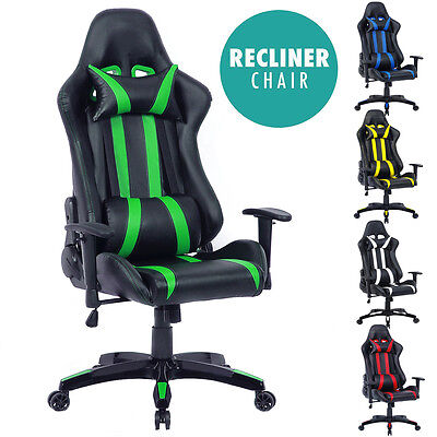 High Back Reclining Racing Gaming Sports Office Chair Ergonomic Computer Desk