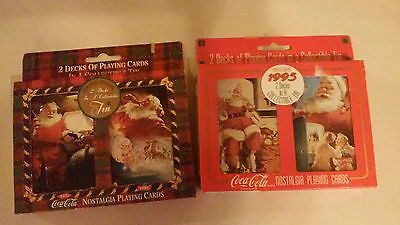 Lot Of 2 Coca Cola Nostalgia Play Cards Set ( Brand New )