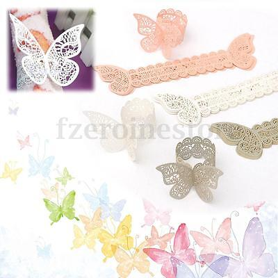 50Pcs Mutil-styles Paper Butterfly Napkin Rings Wedding Party Dinner Hotel Home
