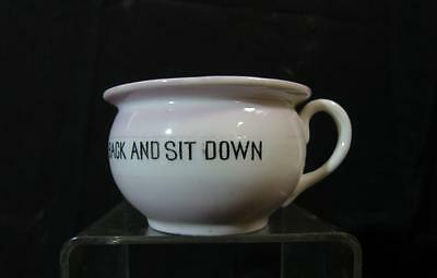 Vintage Germany Miniature Porcelain Chamber Pot 'go Way Back And Sit Down'