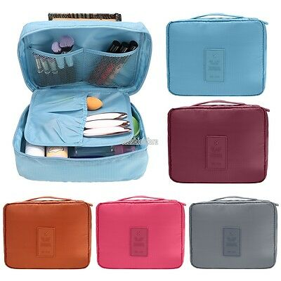 Travel Cosmetic Makeup Bag Toiletry Case Wash Organizer Storage Hanging Pouch FA